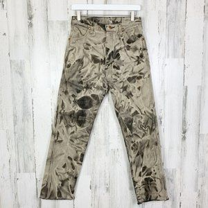 90s Wranglers High Rise Raw Hem Bleached Mom Jeans